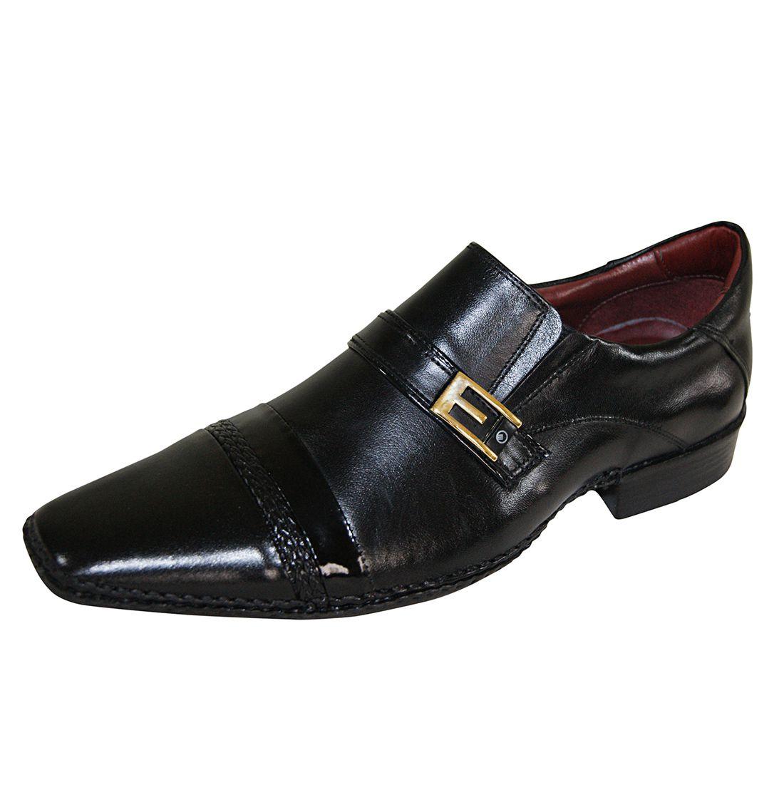 Sapato Social Gofer Couro Verniz Premium