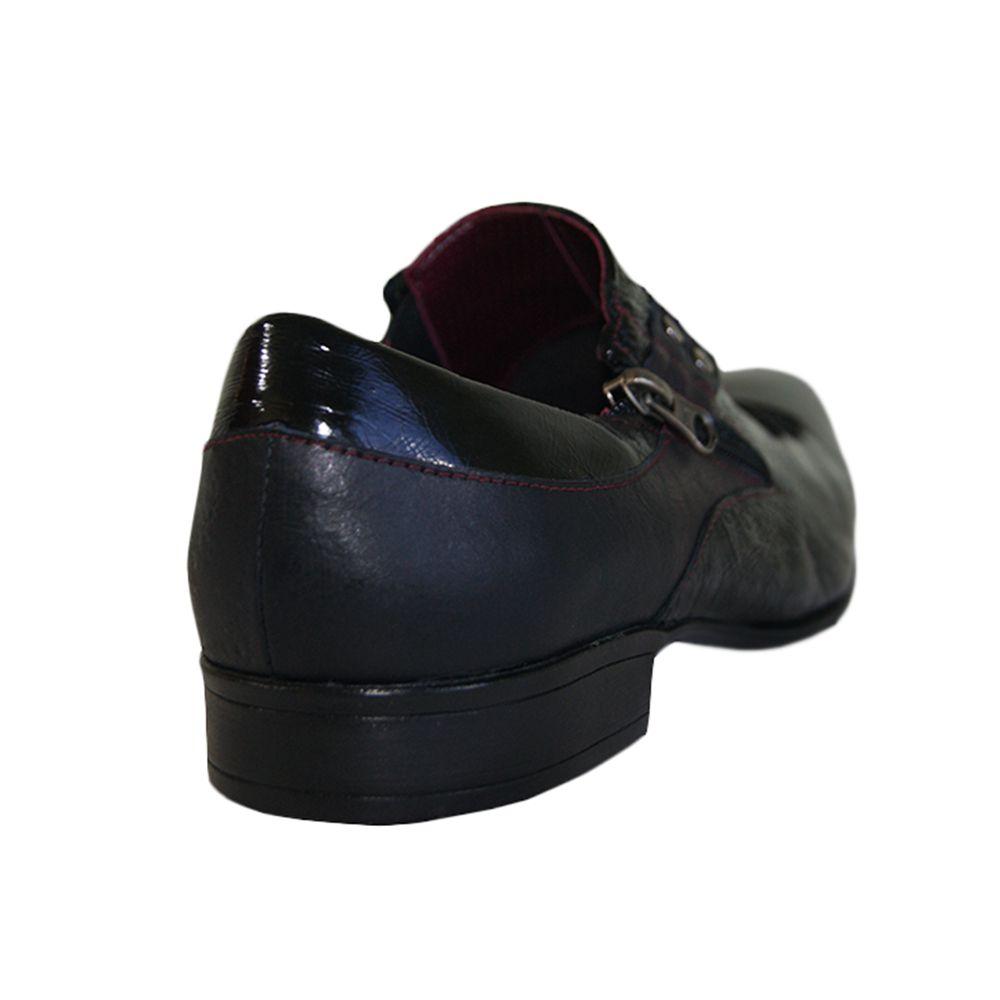 Sapato Social Sândalo Couro Verniz