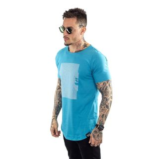 Camiseta Longline Masculina Azul Black Targ