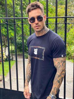 Camiseta Masculina Estampada Preta
