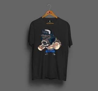 Camiseta Masculina Preta Gorila