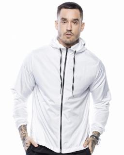 Jaqueta corta vento masculina branca