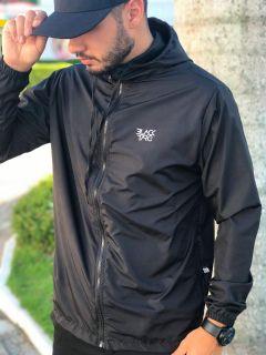 Jaqueta corta vento masculina preta