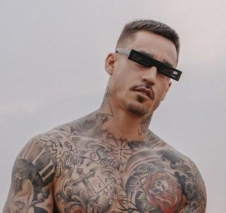 Óculos De Sol Masculino fino retrô