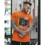 Camiseta Laranja Error 404 Masculina