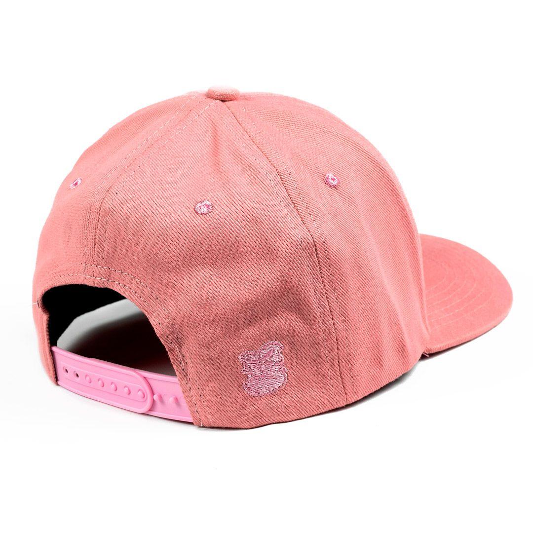 Boné 6 gomos rosa