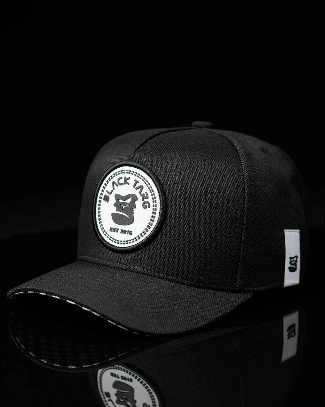 Boné Trucker Preto Detroid Black White