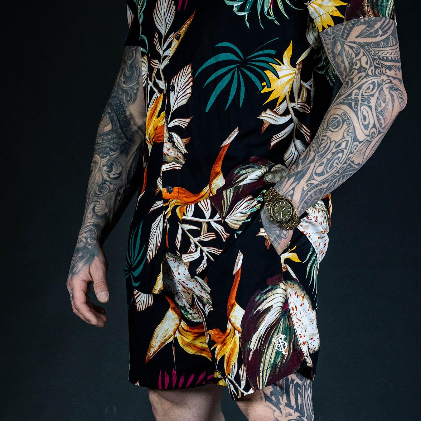 Camisa Manga Curta Black Summer