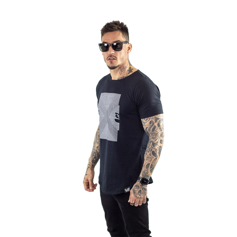 Camiseta Longline Masculina Black Targ