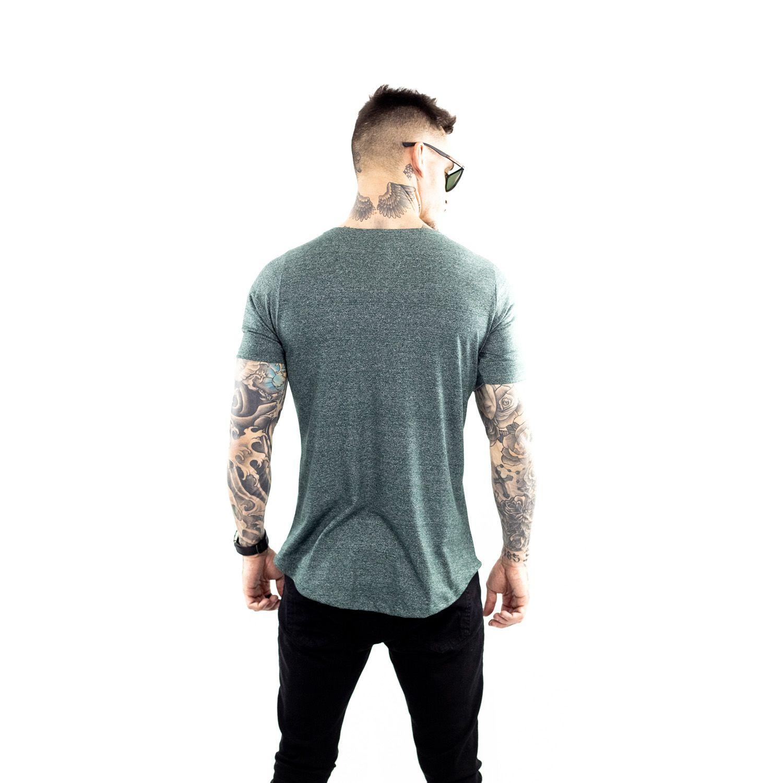 Camiseta Longline Botonê Masculina Verde