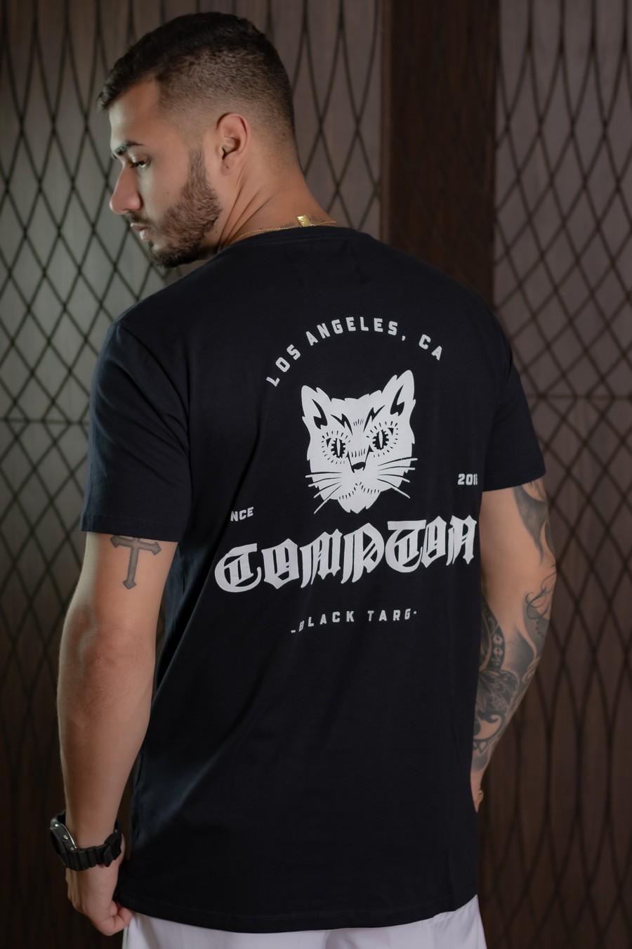 Camiseta Masculina Black Targ Preta