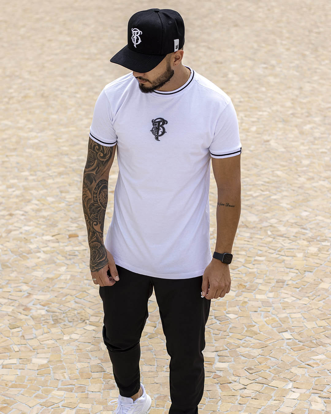 Camiseta Masculina Branca Retilinea Big Track