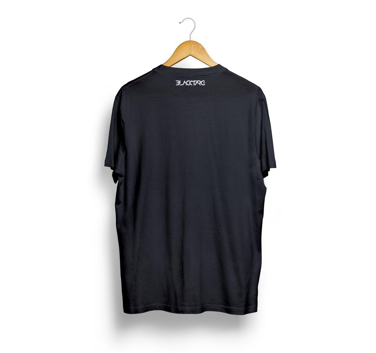 Camiseta Masculina Estampada Black Targ Preta