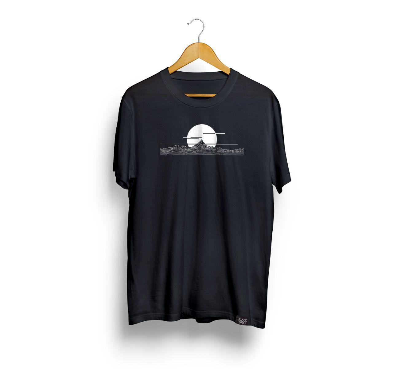 Camiseta Masculina Estampada Eclipse Preta