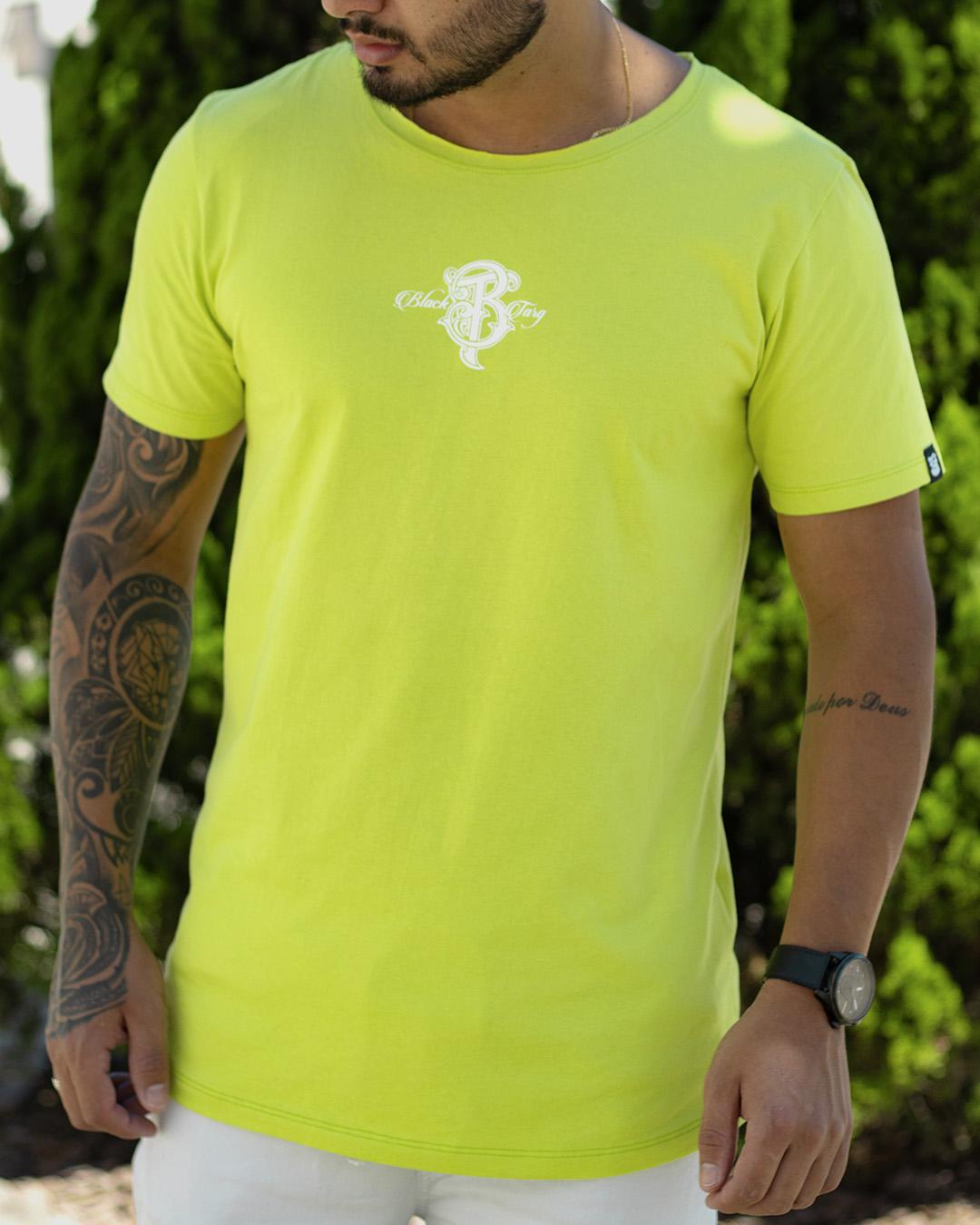 Camiseta masculina monogram verde  logline