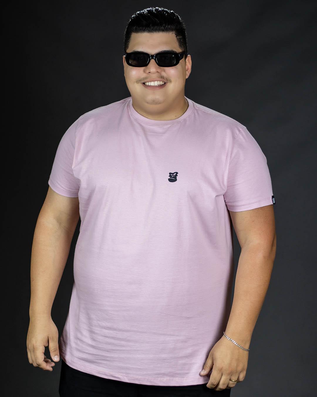 Camiseta Plus Size Rosa Morrissey Masculina