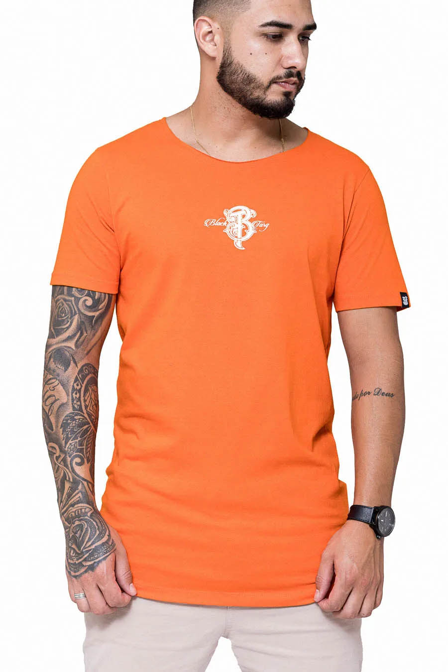 Camisetas Longline Black Targ Collection