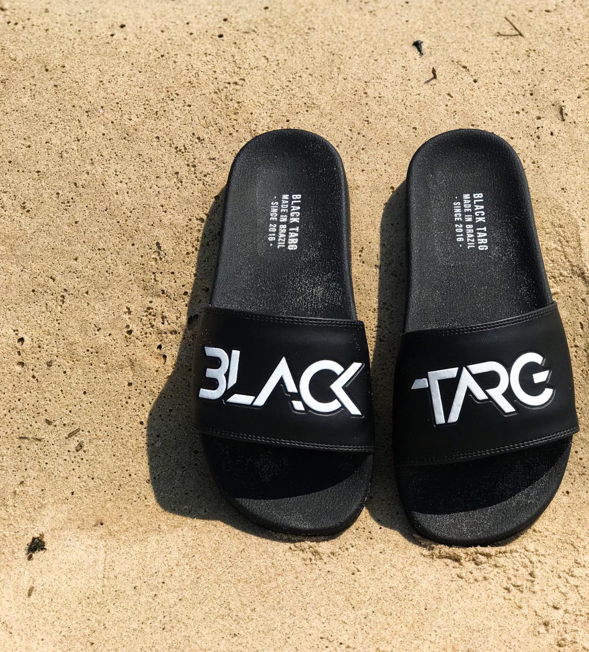 Chinelo Slide Masculino White Black Brand's