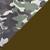 Camuflado verde e marrom