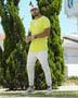 Camiseta Longline Verde Flourescente