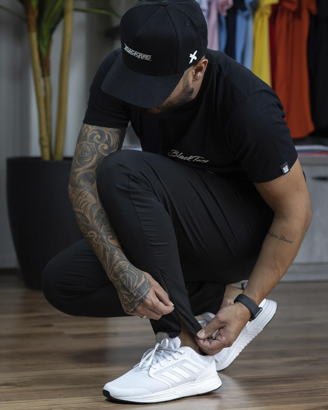 Kit Black - 2 Calças - Calça Elast Fit + Calça Moletom Black Targ