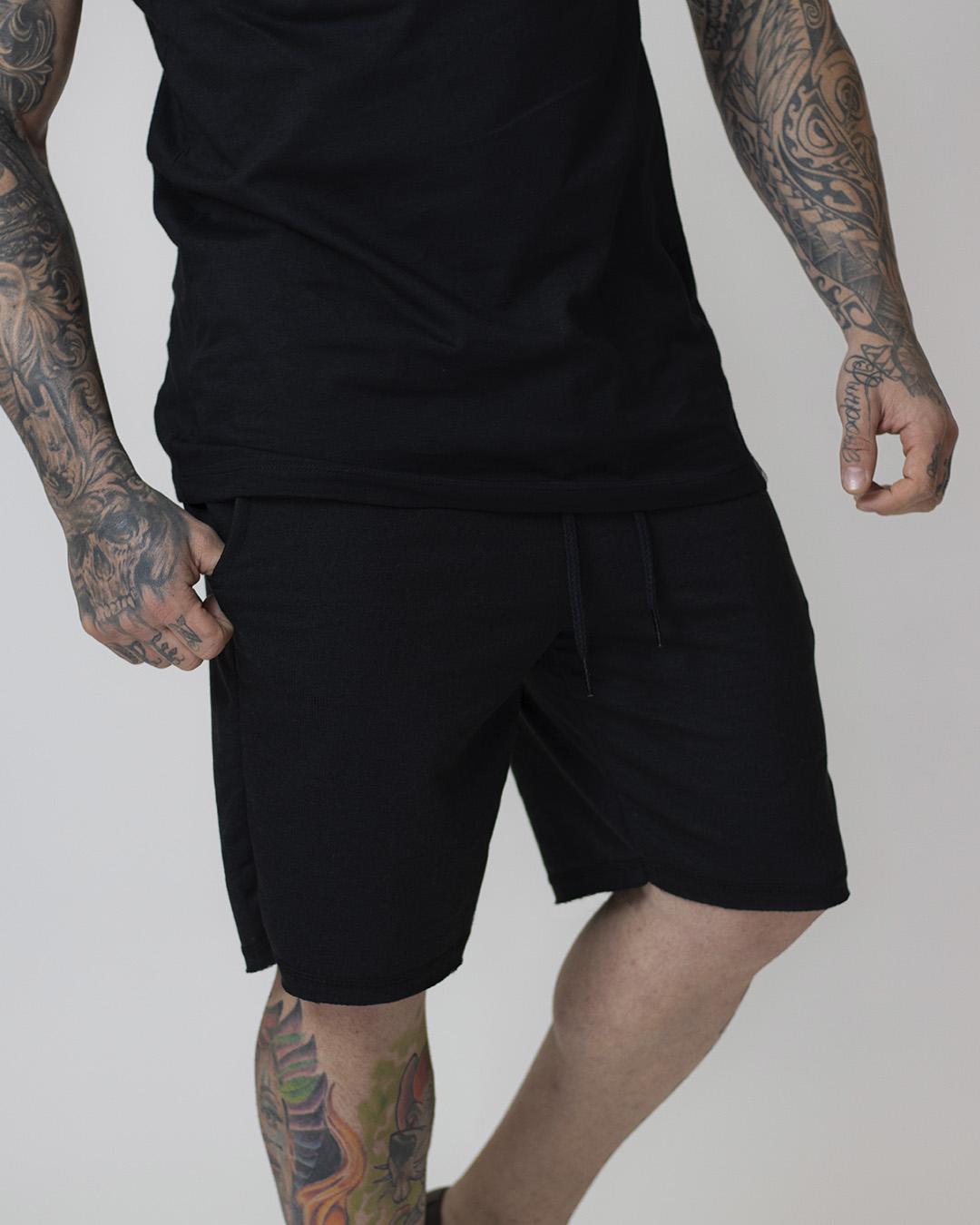 Kit Black - 3 Bermudas de Moletom Masculina