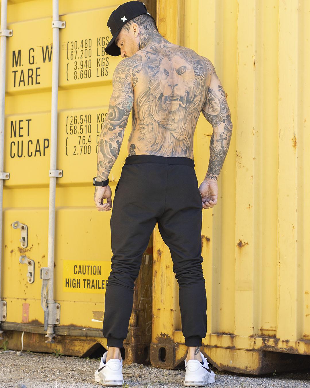 Kit Black -  Calça Moletom Preta Mastodon + Calça Elast Fit