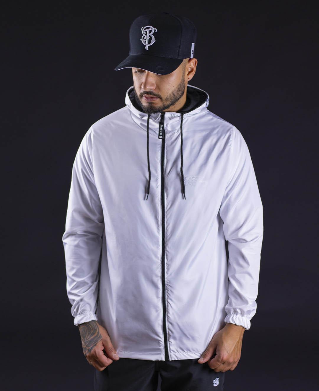 Kit Black - Jaqueta Corta Vento + Calça Elastic