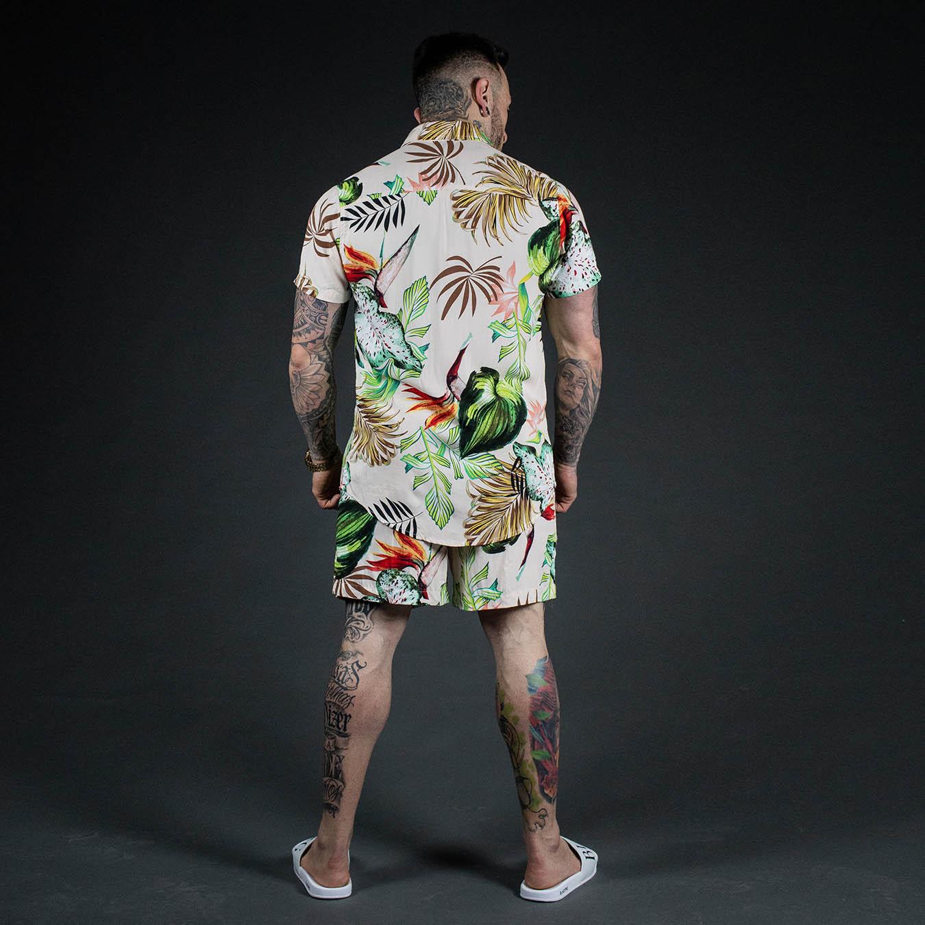 Kit Camisa Manga Curta + Short Flowers Summer
