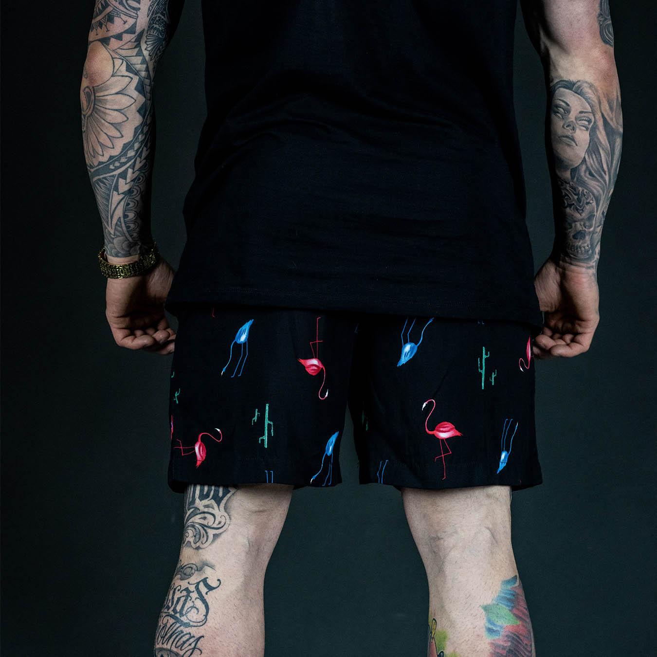 Kit Camisa Manga Curta  + Shorts Flamingo BT Edition Summer