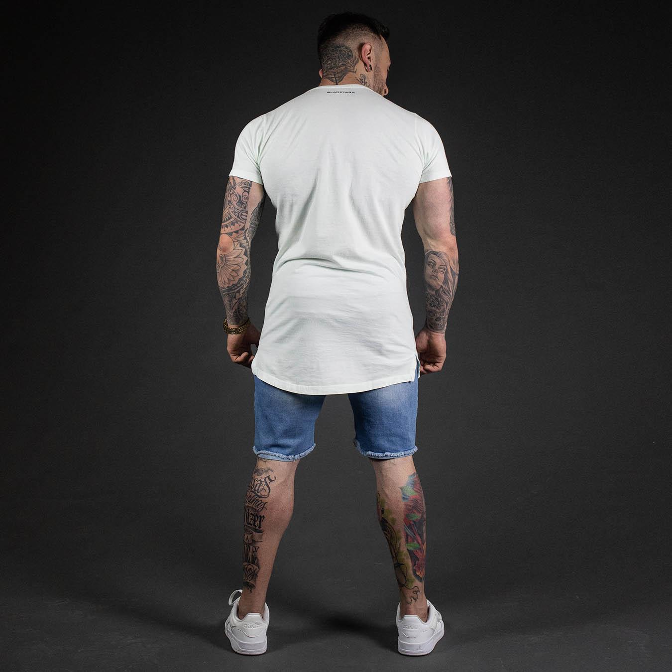 Kit Camiseta Longline Autority + Short Jeans TearLine