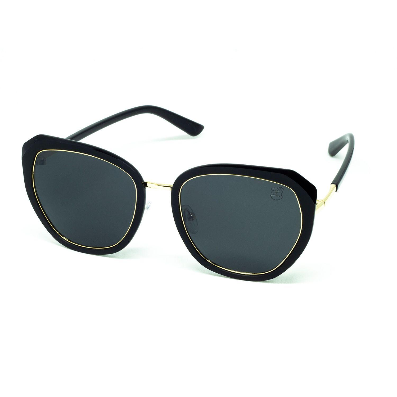 Óculos De Sol Feminino Redondo Preto
