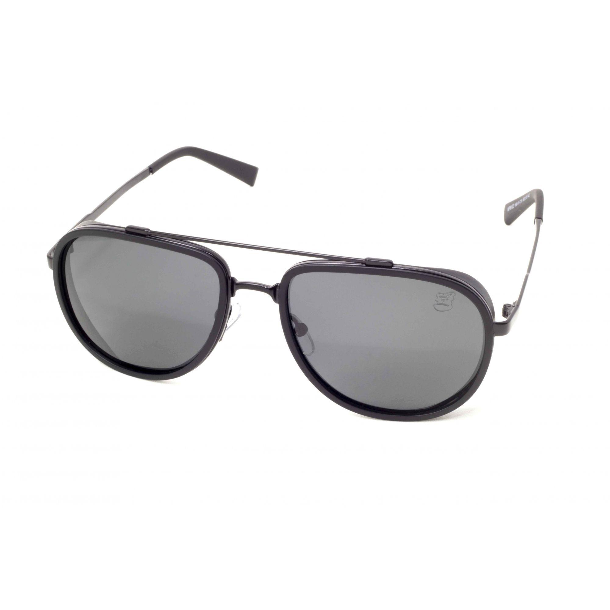 Óculos De Sol Masculino Aviador Steampunk Preto