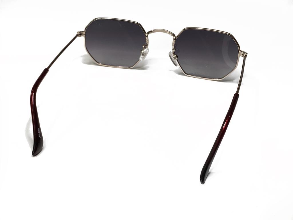 Óculos De Sol Masculino Hexagonal