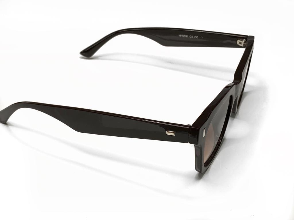 Óculos De Sol Masculino Marrom Escuro