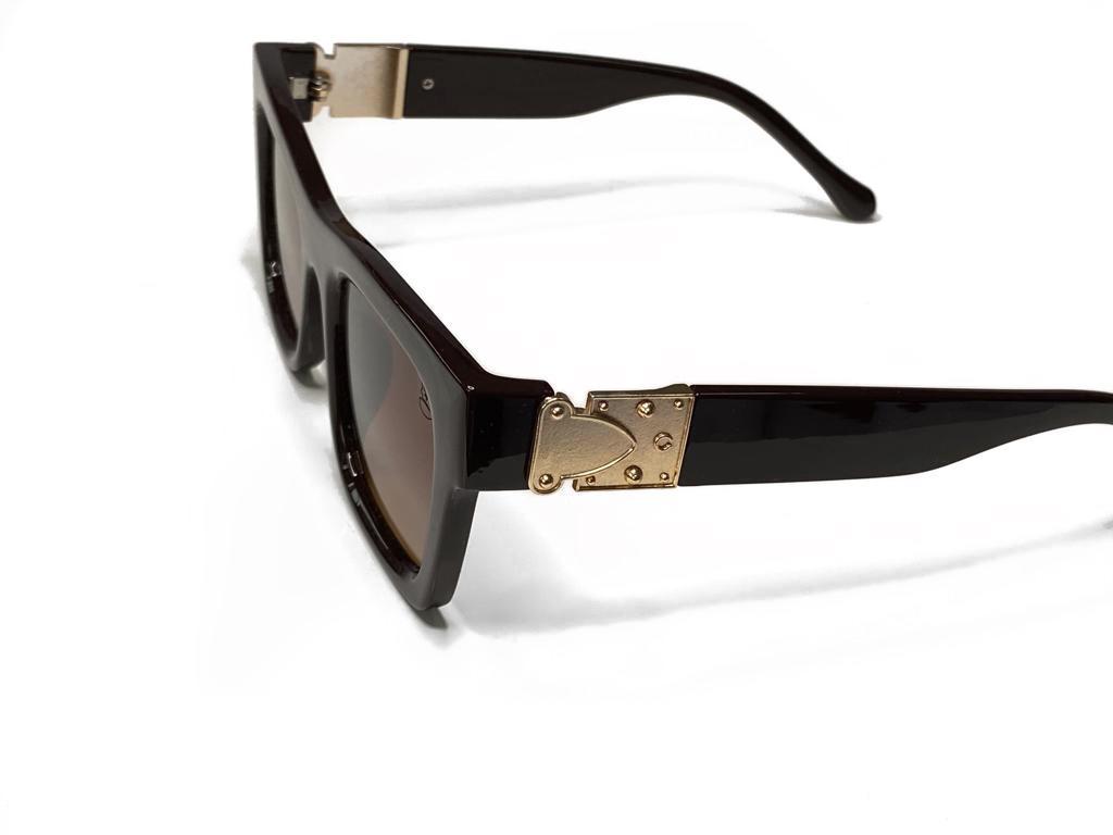 Óculos De Sol Masculino Quadrado Marrom