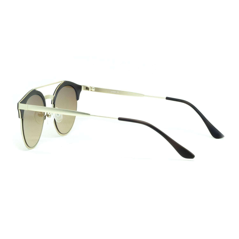 Óculos De Sol Masculino Redondo Marrom