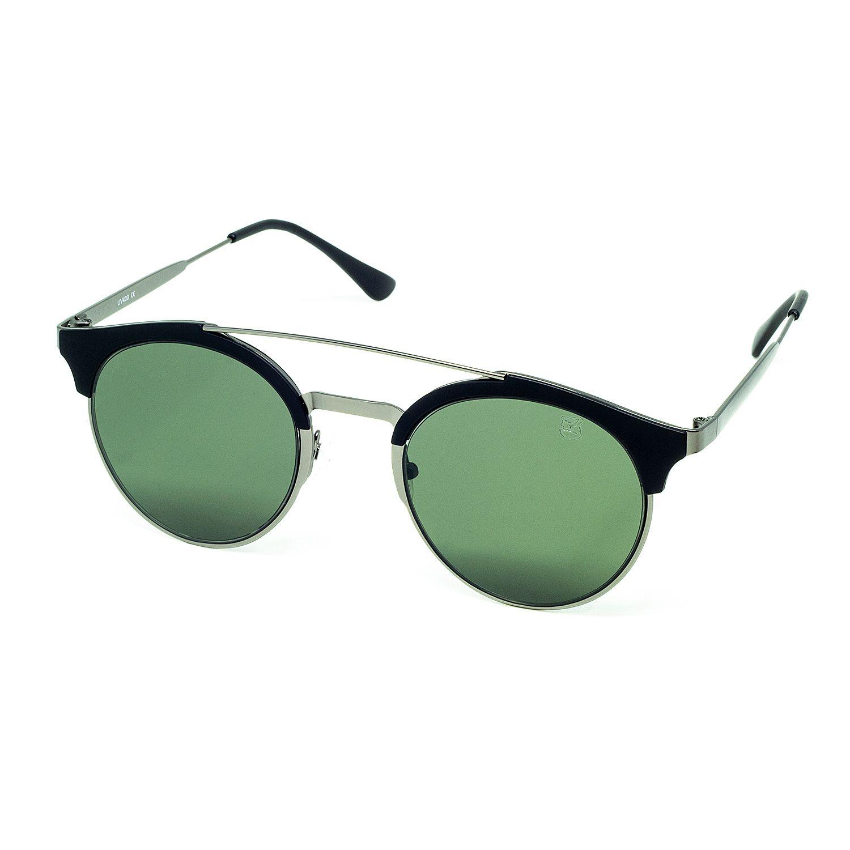 Óculos De Sol Masculino Redondo Preto