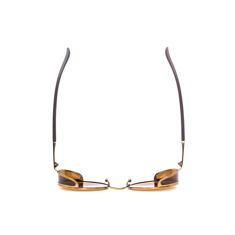 Óculos De Sol Masculino Steampunk Marrom