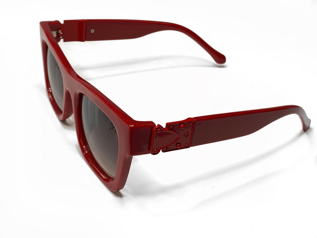 Óculos De Sol Masculino Vermelho