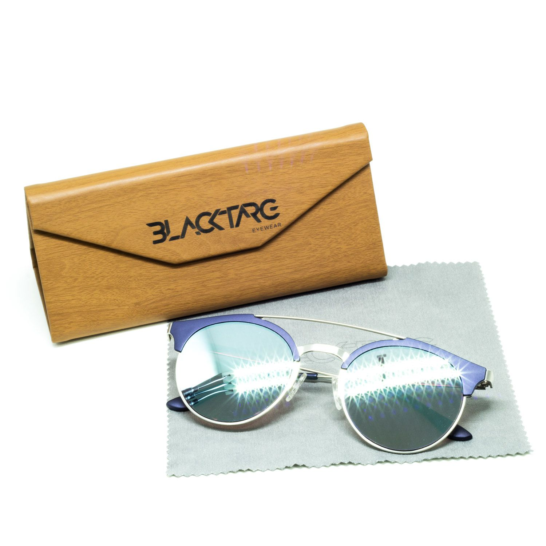 Óculos De Sol Masculino Espelhado Azul