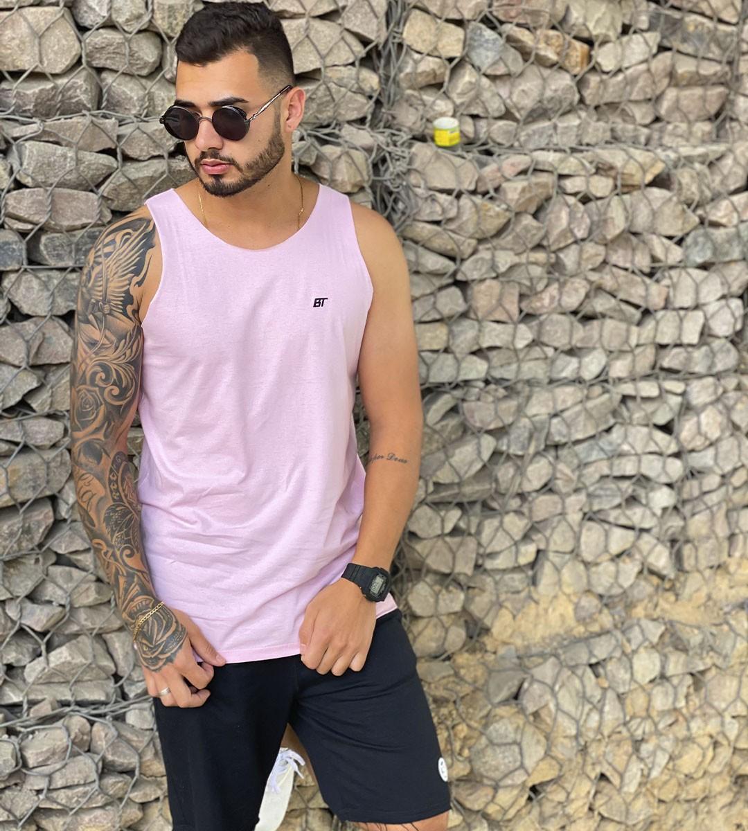 Regata masculina rosa BT
