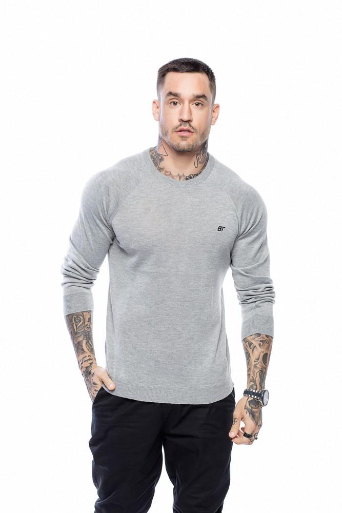 Suéter Masculino Básico Cinza
