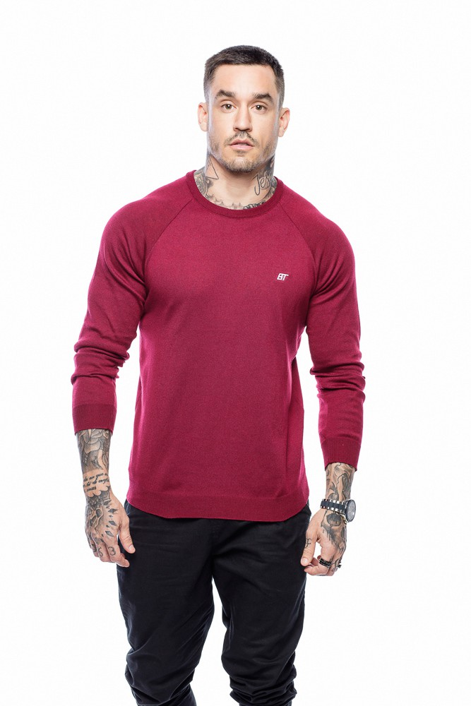 Suéter Masculino Básico Vermelho