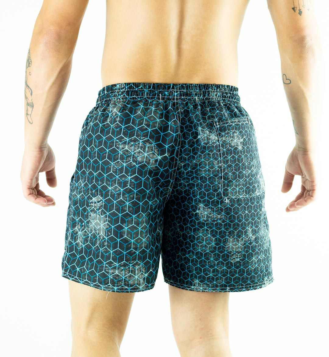 Swim Shorts Estampa Azul