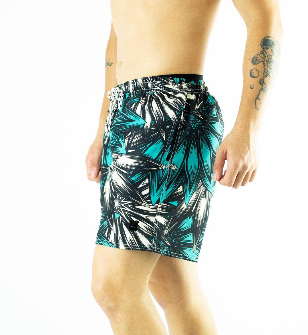 Swim Shorts Estampado Folhas