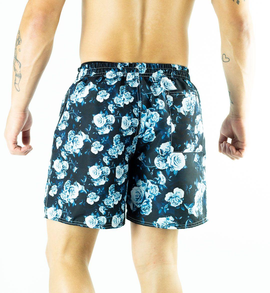 Swim Shorts Floral Azul