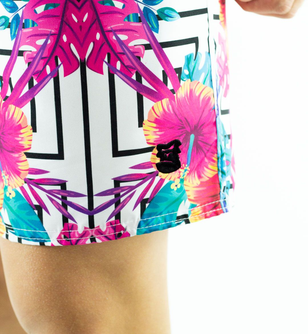 Swim Shorts Masculino Flor Rosa