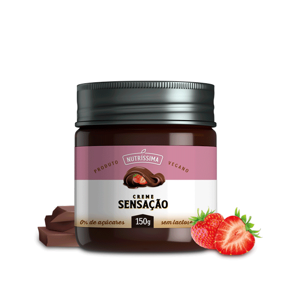 Creme Sensação de Chocolate com Morango 150G
