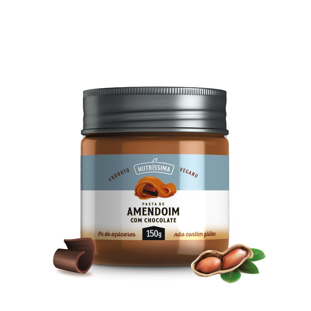 LANÇAMENTO: Creme de Amendoim com Chocolate Vegano Zero açúcar 150g
